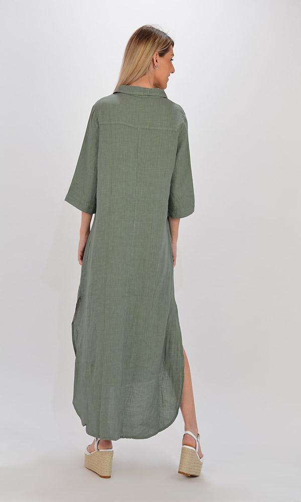 Collection Spring - Summer 2021 PLS FASHION MAXI SHIRT DRESS
