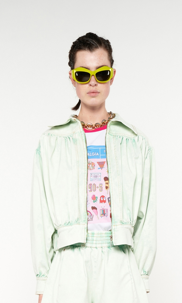 Collection Spring - Summer 2021 WE ARE ACID-WASH EFFECT OVERSIZED DENIM JACKET
