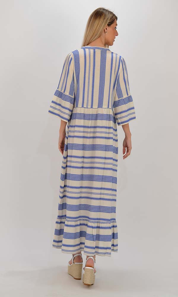 Collection Spring - Summer 2021 PLS FASHION BLUE WHITE LONG DRESS