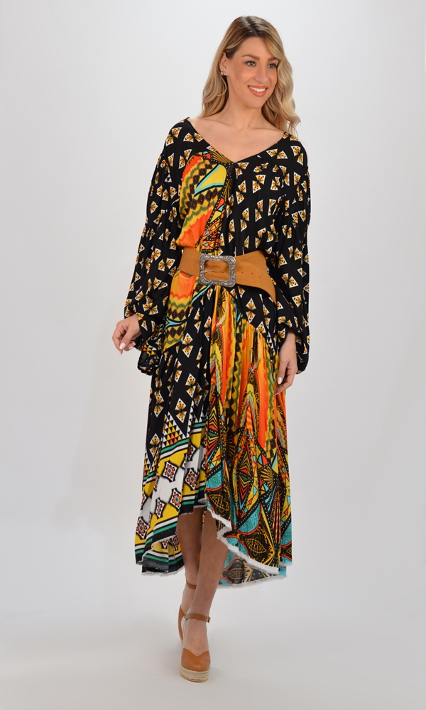 Collection Spring - Summer 2021 CMANOLO KAFTAN  DRESS