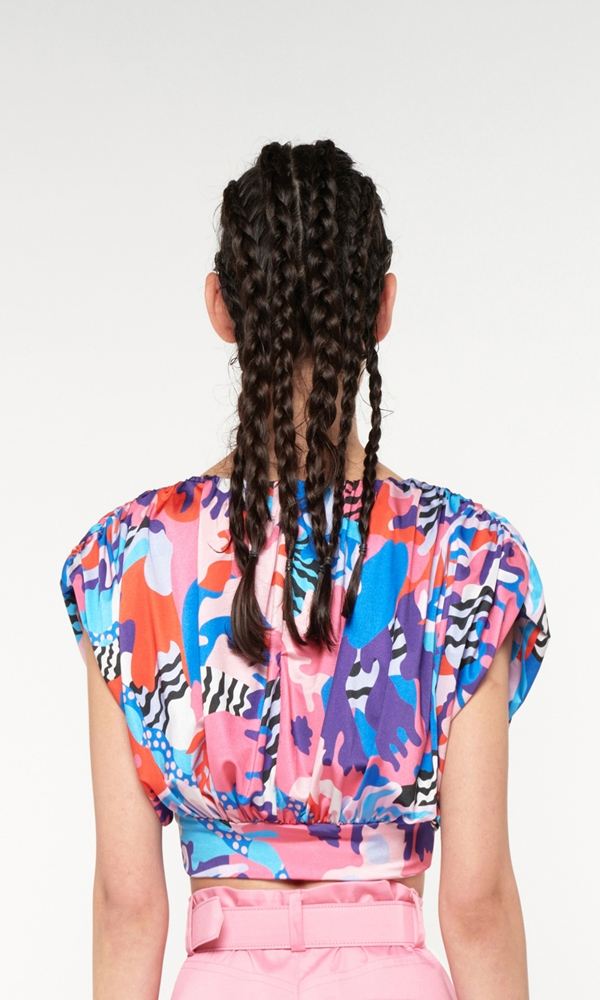 Collection Spring - Summer 2021 WE ARE CROP JERSEY PRINTED TOP