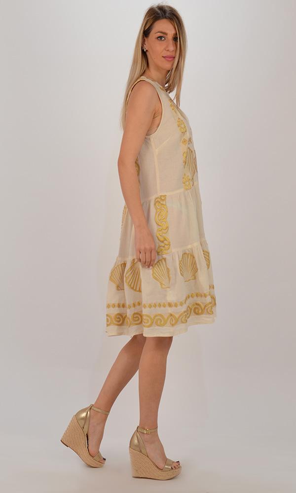 Collection Spring - Summer 2021 NEMA MERMAID DRESS ΕΚΡΟΥ