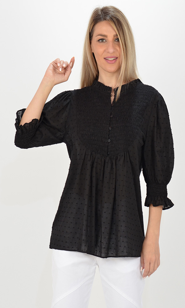 Collection Spring - Summer 2021 MILLA DOTTED BOHO BLOUSE