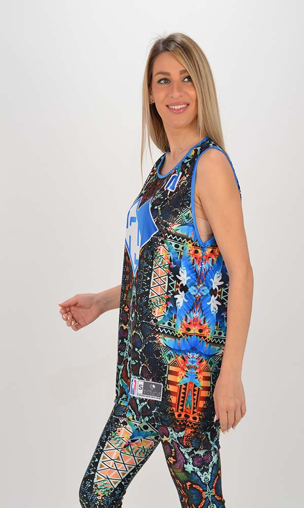Collection Spring - Summer 2021 TYPE LOVE TOP KALEIDO AFRICT GLOSSY