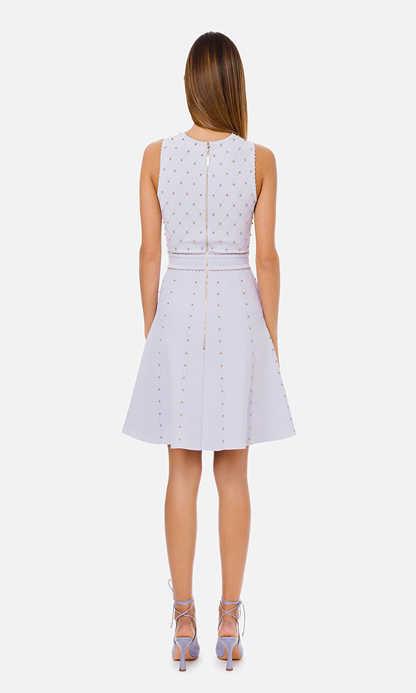 Collection Spring - Summer 2021 ELISABETTA FRANCHI MINI DRESS WITH SMALL STUDS