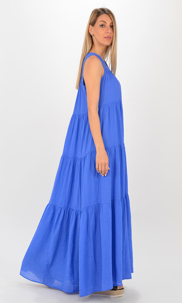 Collection Spring - Summer 2021 DEVOTION TWINS BAR LONG DRESS WITH RUFFLE