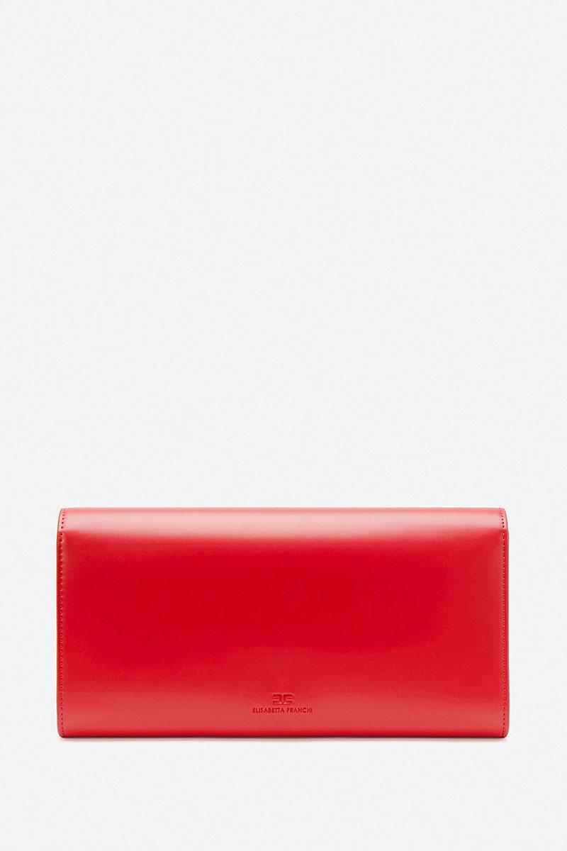 Collection Spring - Summer 2021 ELISABETTA FRANCHI MEDIUM ASYMMETRIC CLUTCH BAG