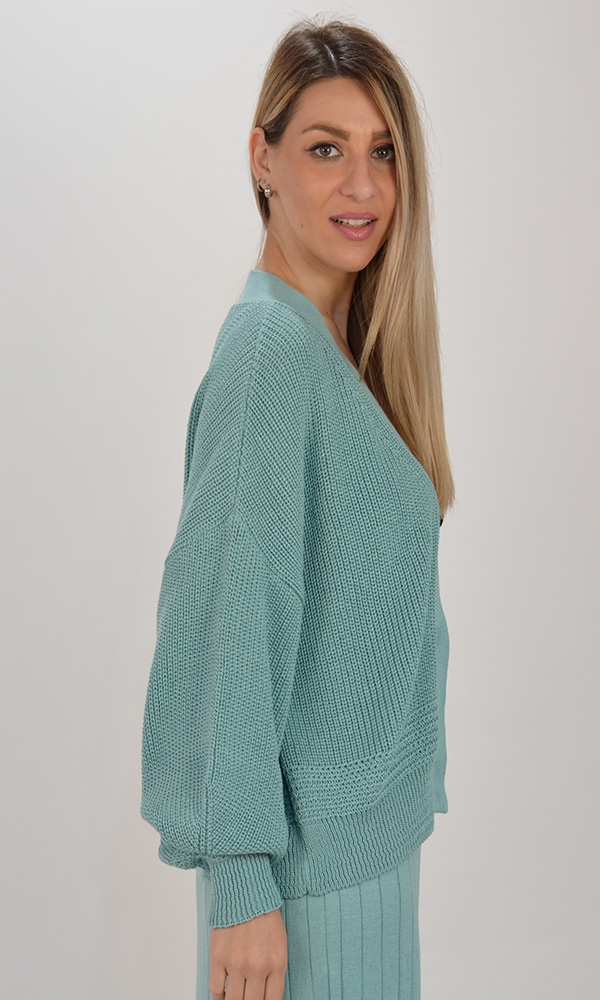 Collection Spring - Summer 2021 CKONTOVA KNIT CARDIGAN MINT