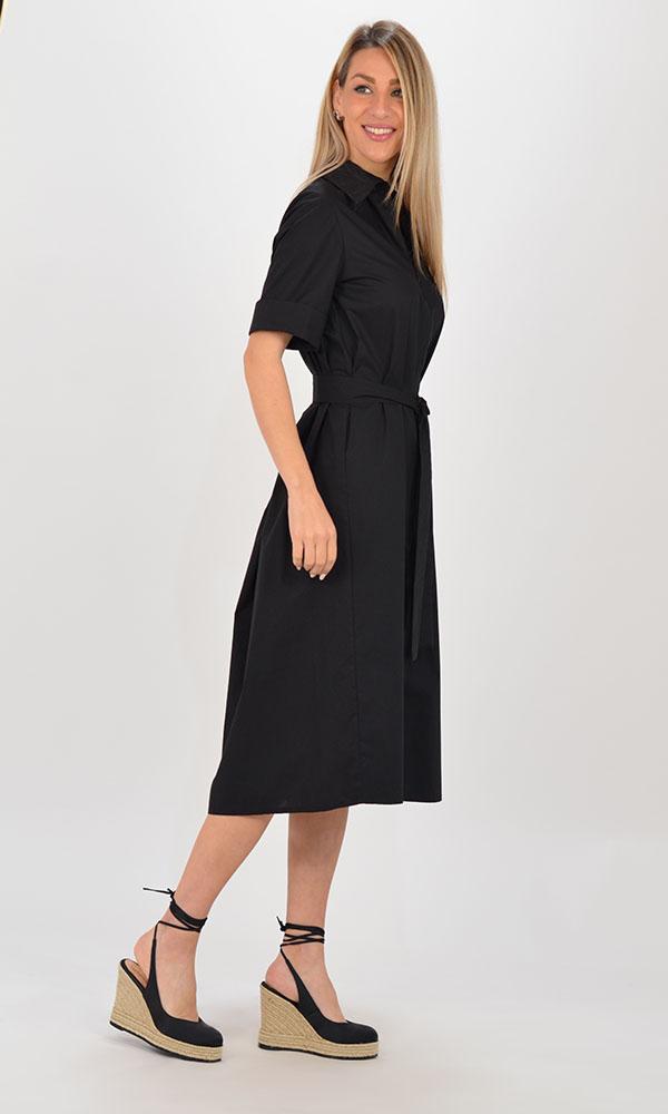 Collection Spring - Summer 2021 BLACK & BLACK POPLIN DRESS