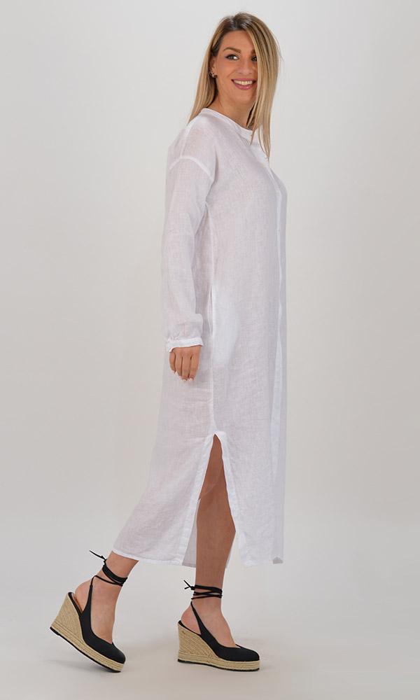 Collection Spring - Summer 2021 BLACK&BLACK ΣΕΜΙΖΙΕ LONG LINEN DRESS
