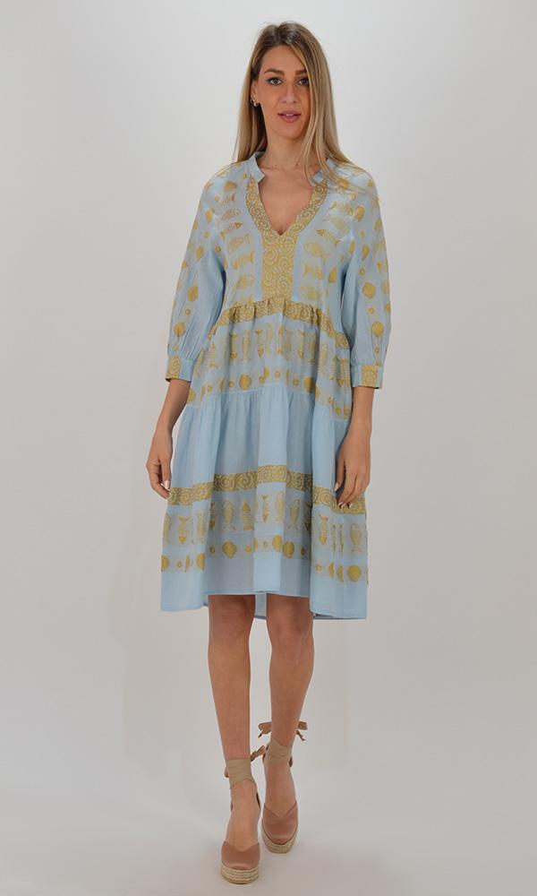 Collection Spring - Summer 2021 NEMA BOHO SEA PRINT DRESS