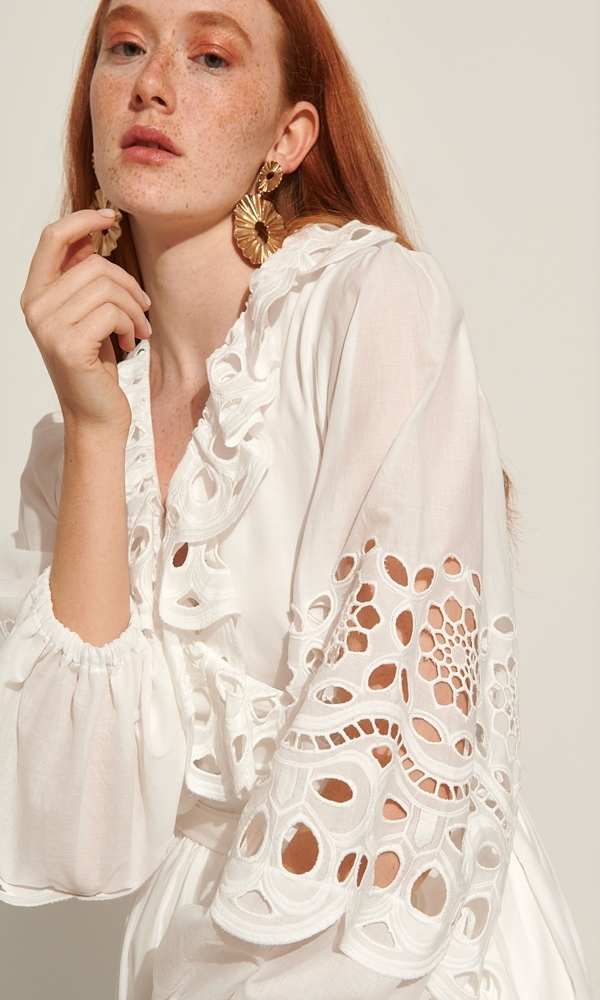 Collection Spring - Summer 2021 LACE ΦΟΡΕΜΑ BROIDERY ΚΡΟΥΑΖΕ