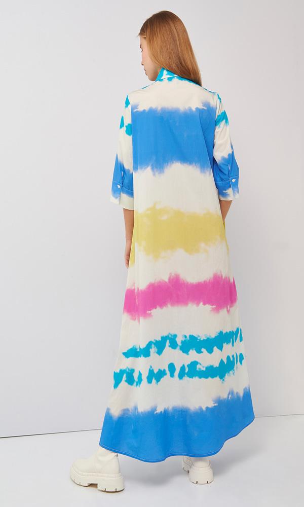 Collection Spring - Summer 2021 BLACK & BLACK TIE DYE SEMIZIE MAXI DRESS