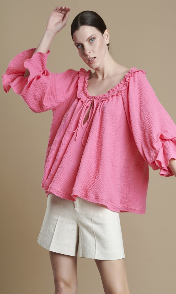 Collection Spring - Summer 2021 AVANT GARDE PUFFED SLEEVE BLOUSE