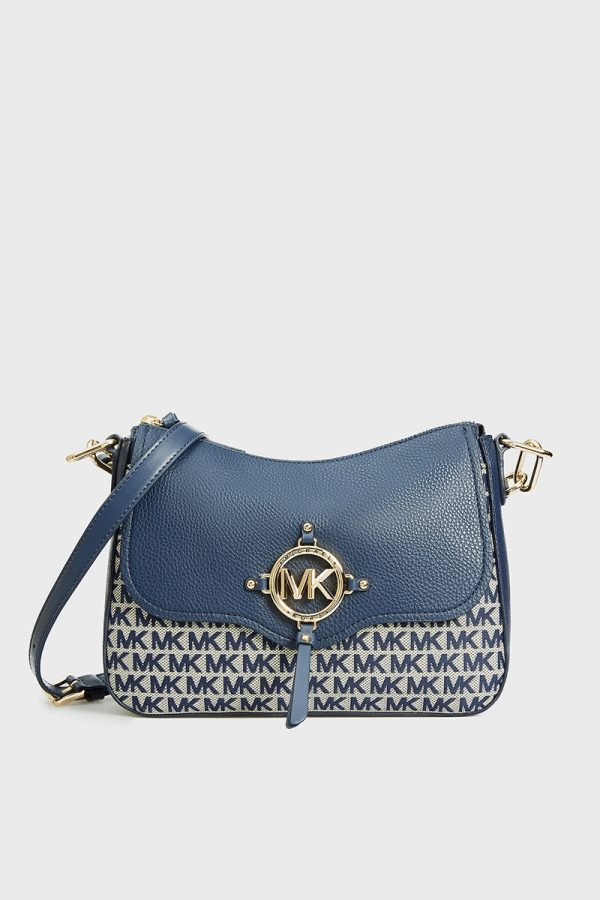 Collection Spring - Summer 2021 MICHAEL KORS AMY SOFT LOGO JACQUARD LARGE MESSENGER BAG