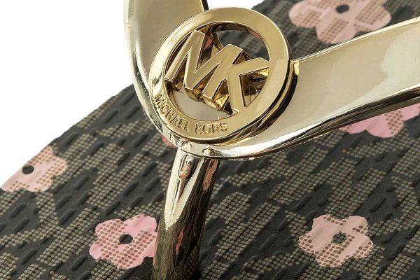 Παπούτσια MICHAEL KORS FLIP FLOP FLORAL GOLD