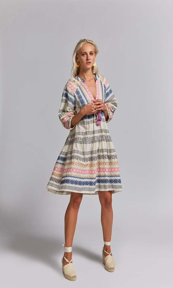 Collection Spring - Summer 2021 NEMA MULTI COLOR EMBROIDERED DRESS