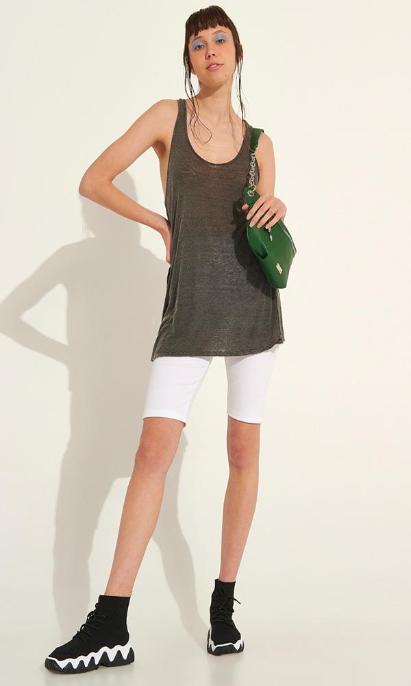 Collection Spring - Summer 2021 BLACK & BLACK MINI LINEN DRESS