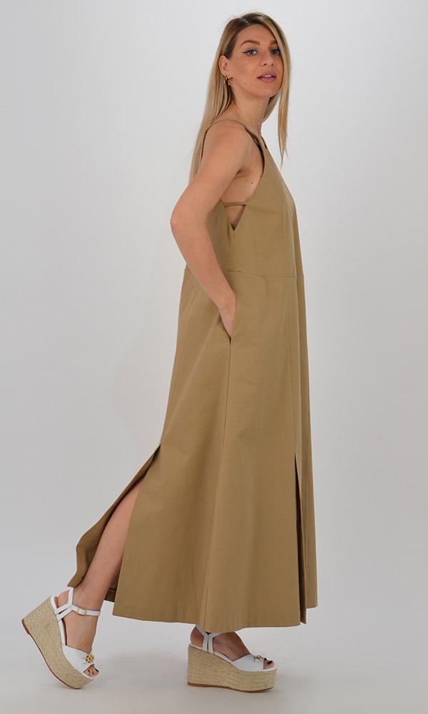 Collection Spring - Summer 2021 CKONTOVA DRESS WITH SLITS BEIGE