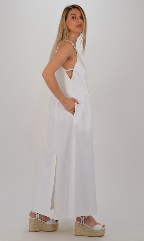 Collection Spring - Summer 2021 CKONTOVA DRESS WITH SLITS WHITE