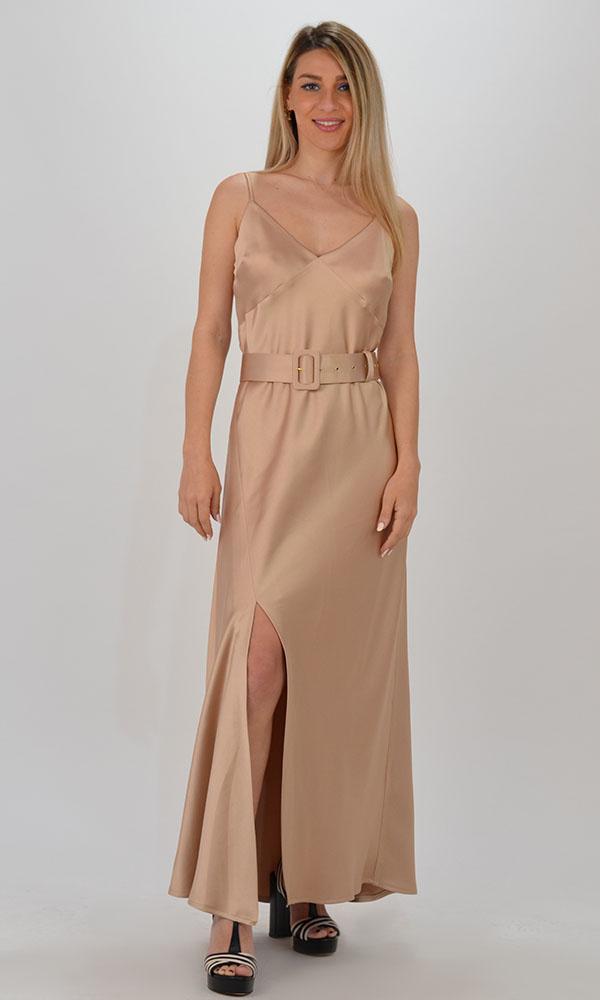 Collection Spring - Summer 2021 CKONTOVA SATIN DRESS GOLD