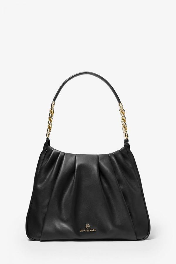Collection Spring - Summer 2021 MICHAEL KORS HANNAH MEDIUM  PLEATED SHOULDER  BAG