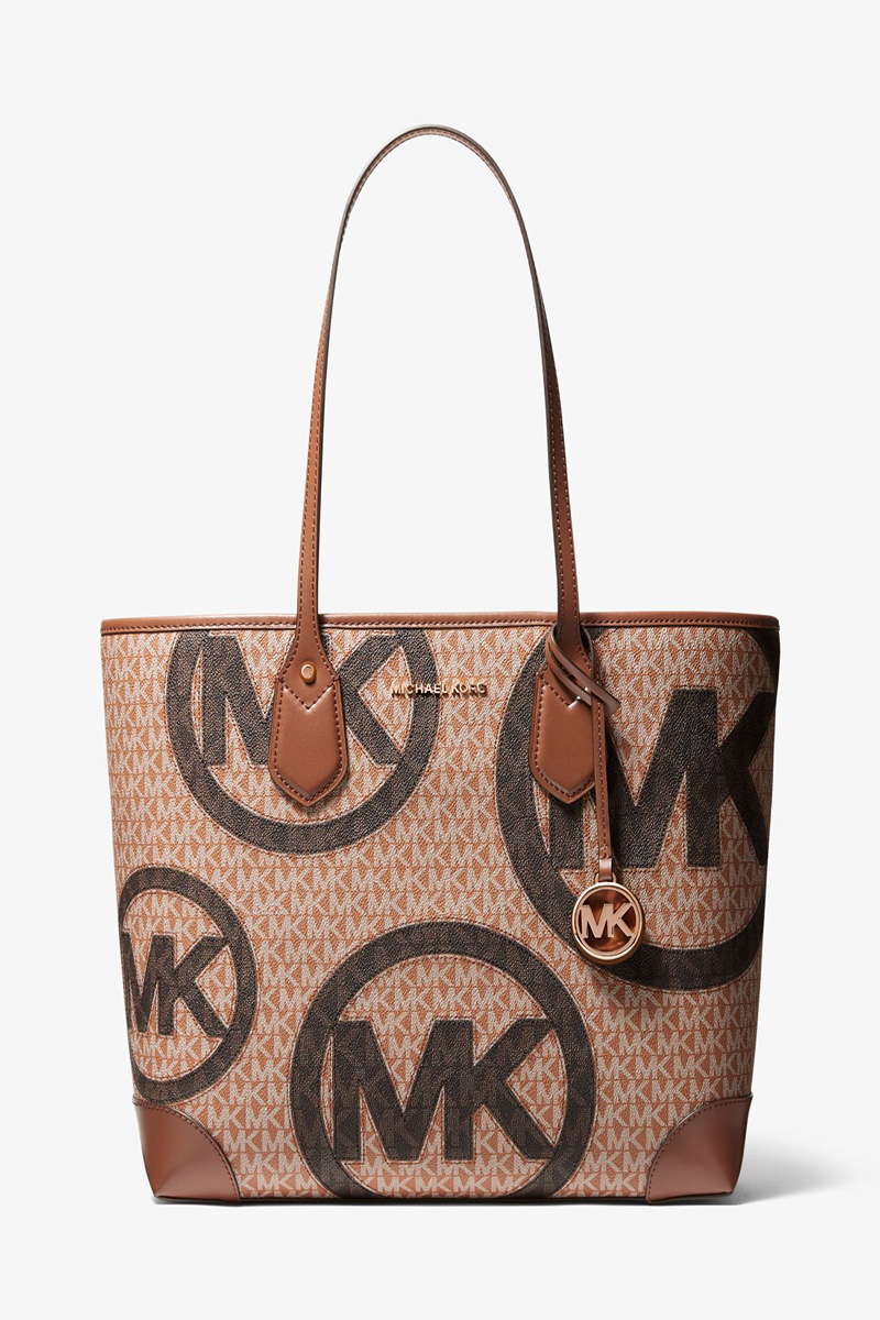 Collection Spring - Summer 2021 MICHAEL KORS EVA LARGE TWO-TONE GRAPHIC LOGO TOTE BAG