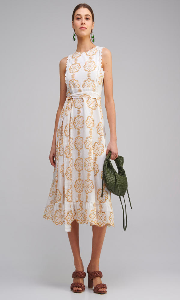Collection Spring - Summer 2021 MY TIFFANY EMBROIDERED MIDI DRESS