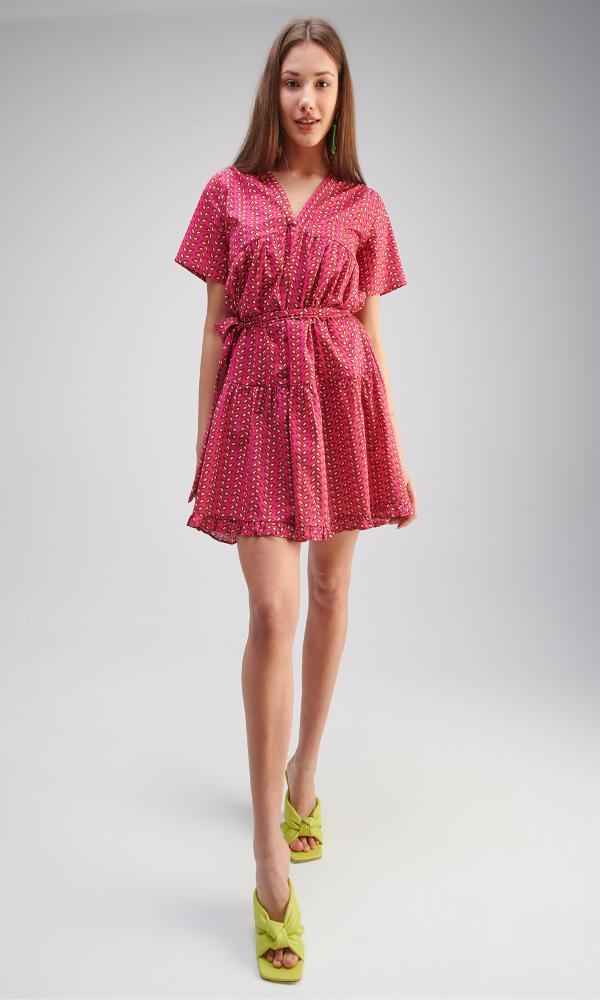 Collection Spring - Summer 2021 MY TIFFANY MINI FUCHSIA DRESS