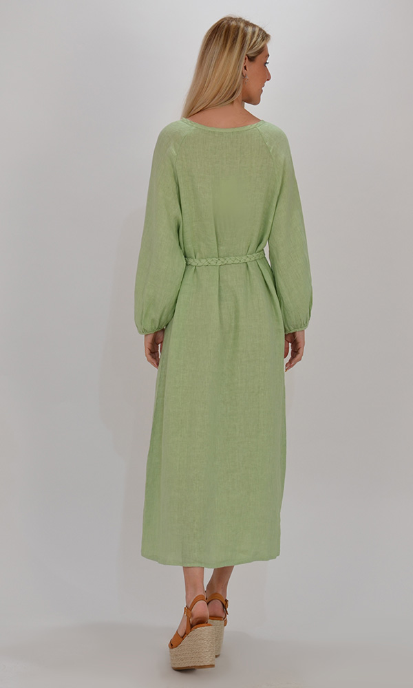 Collection Spring - Summer 2021 PLS FASHION ΣΕΜΙΖΙΕ LINEN MAXI DRESS