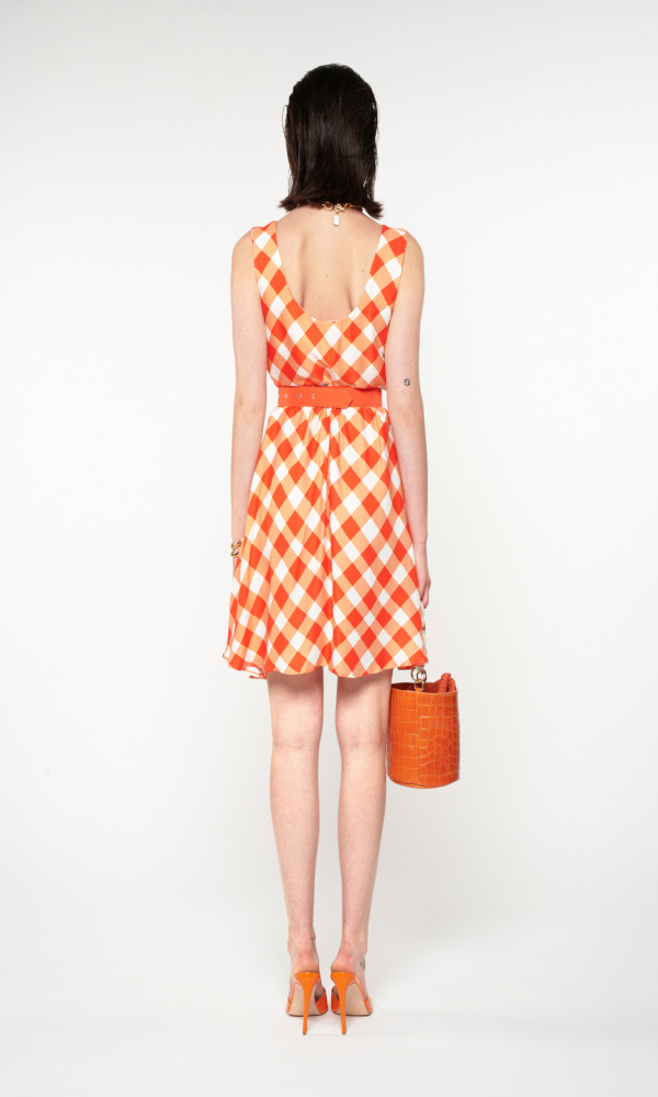 Collection Spring - Summer 2021 WE ARE LOOSE FITTING SUNDRESS GINGHAM RED