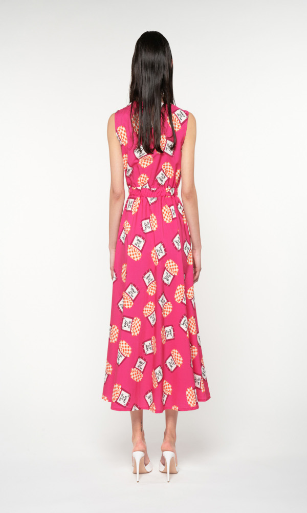Collection Spring - Summer 2021 WE ARE SQUARE NECK SLEEVELESS MIDI DRESS