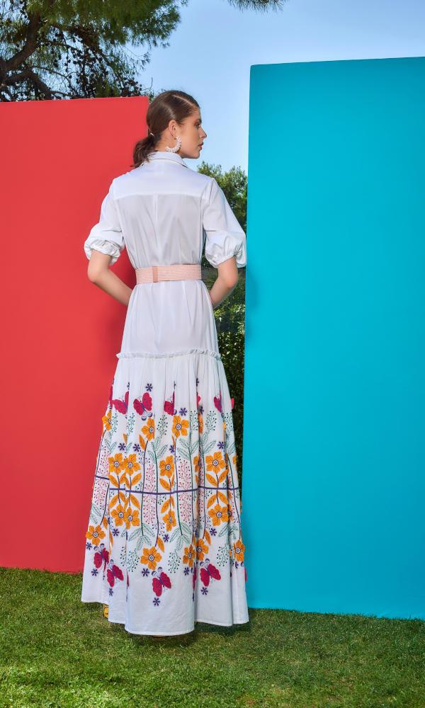 Collection Spring - Summer 2021 CMANOLO MAXI FLORAL DRESS