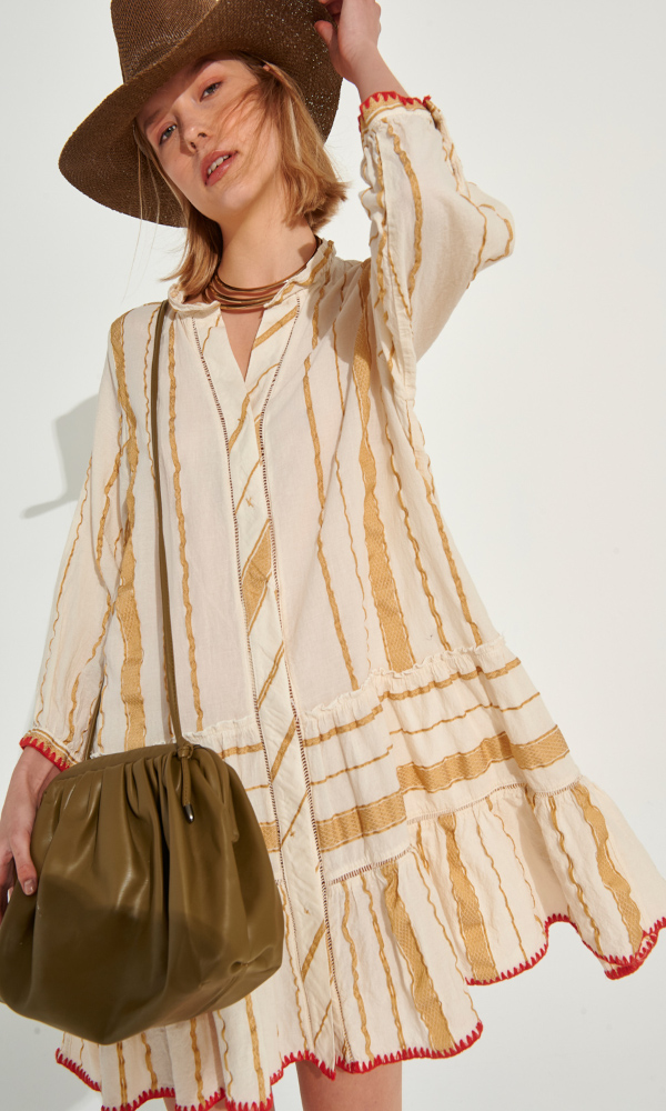 Collection Spring - Summer 2021 AUGUST KAFTAN MINI DRESS