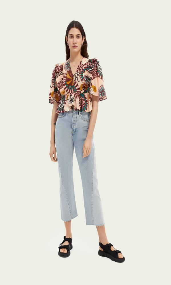 Collection Spring - Summer 2021 SCOTCH & SODA LINEN TOP