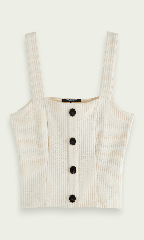Collection Spring - Summer 2021 SCOTCH & SODA CROPPED RIBBLED TOP