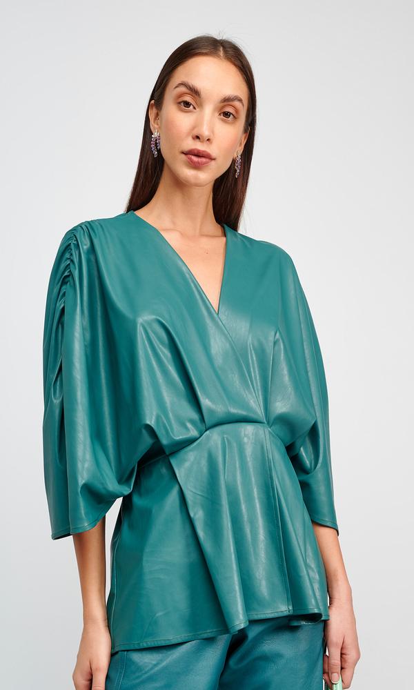 Γυναικεία Ρούχα MY TIFFANY LEATHER BLOUSE