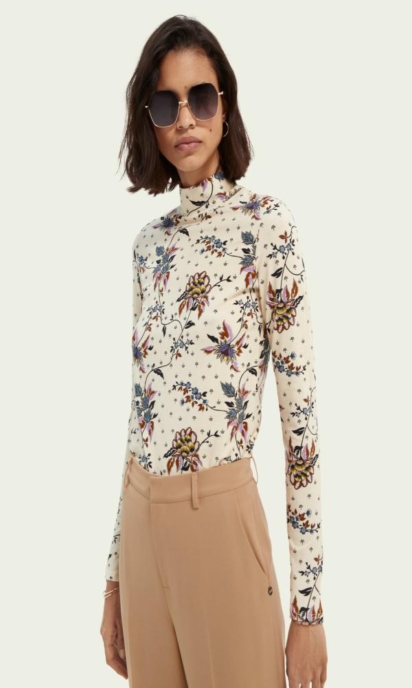 Γυναικεία Ρούχα SCOTCH&SODA PRINTED ORGANIC COTTON TOP