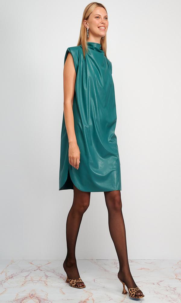 Γυναικεία Ρούχα MY TIFFANY SLEEVLESS LEATHER DRESS