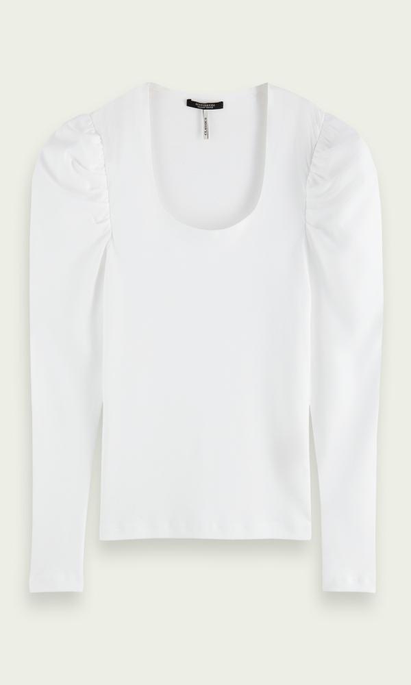 Γυναικεία Ρούχα SCOTCH&SODA PUFFED LONG-SLEEVED SHIRT