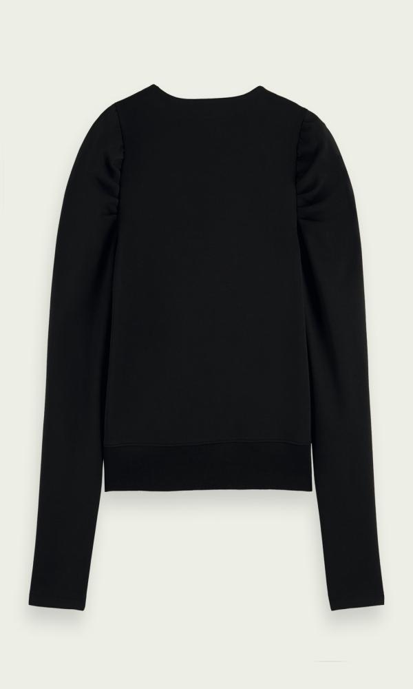 Γυναικεία Ρούχα SCOTCH&SODA COTTON-BLEND WRAP TOP