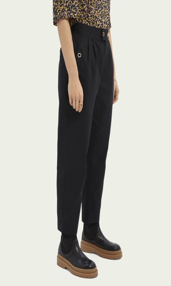 Γυναικεία Ρούχα SCOTCH&SODA TAPERED-FIT COTTON TROUSERS