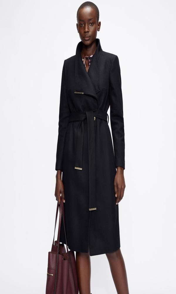 Γυναικεία Ρούχα TED BAKER WOOL WRAP COAT