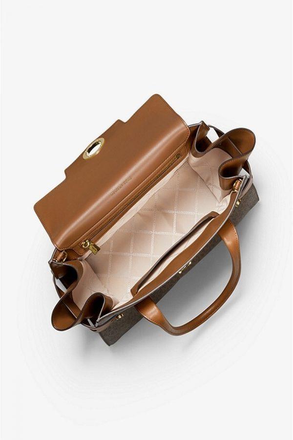 Shopping Bags MICHAEL KORS CARMEN LOGO & LEATHER BELTED BAG