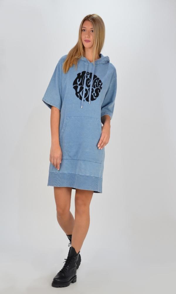 Γυναικεία Ρούχα MICHAEL KORS CHAMBRAY HOODIE DRESS