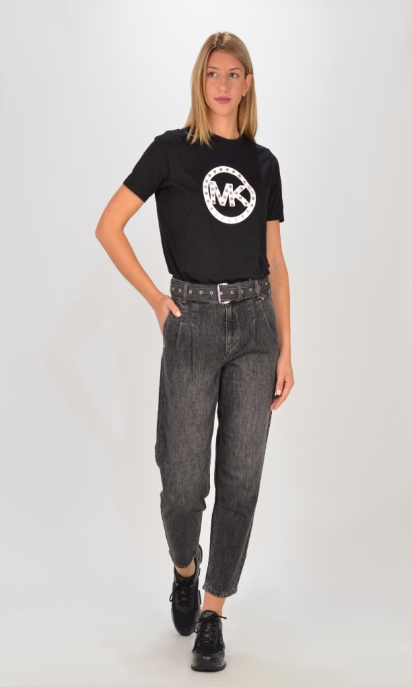 Jeans MICHAEL KORS PLEATED BELTED DNM PANT
