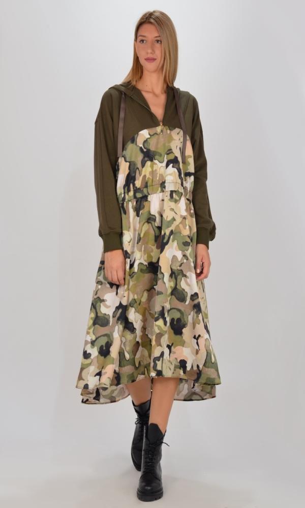 Γυναικεία Ρούχα TWINSET ARMY DRESS