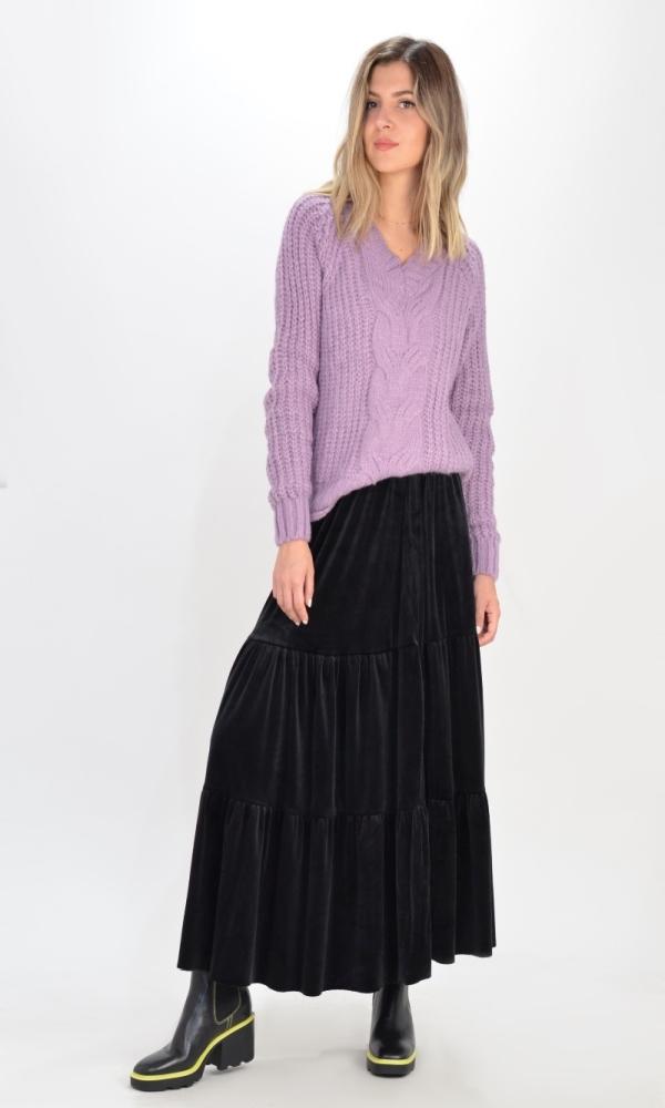 Γυναικεία Ρούχα ROSE BOHO VELVET SKIRT 2304