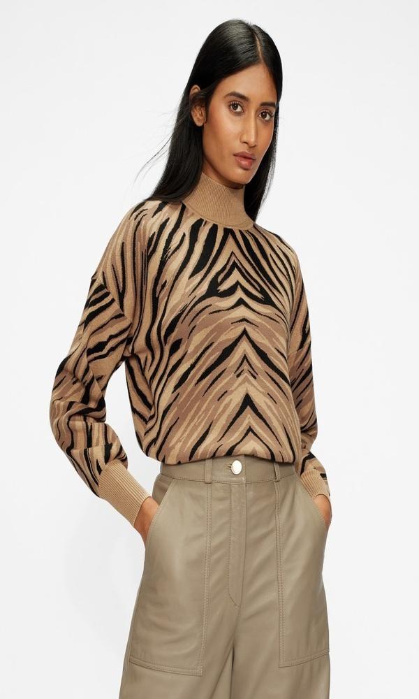Γυναικεία Ρούχα TED BAKER PANTHIA ANIMAL STRIPE SWEATER