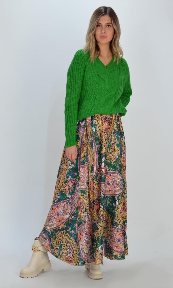 Γυναικεία Ρούχα ROSE MAXI PRINTED SKIRT 8549